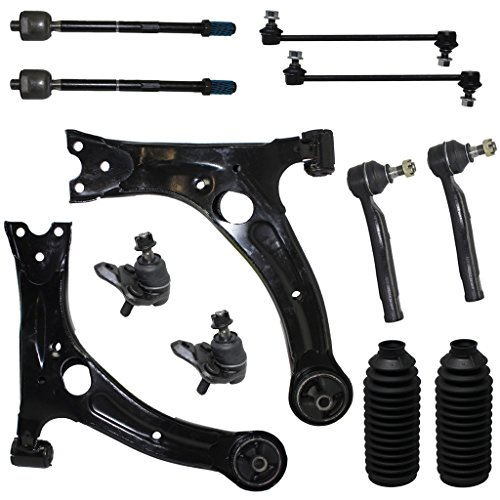 (12-Piece Front Suspension Kit - (2) Front Lower Control Arms, (2) Front Lower Ball Joints, (2) Front Sway Bar End Links, All (4) Front Inner & Outer Tie Rod Ends [NOT FOR JAPAN MADE MODELS])