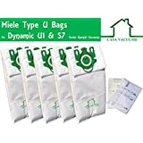 Miele U bags ULTRA PREMIUM 3D 5 Bags + 2 Filters; Fit Miele Type U1, S7, S7000-S7999 Series Upright Vacuums, Compare to Miele Part # 10123230