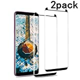 EcoPestuGo Compatible [2 - Pack] for Galaxy S9 Plus Screen Protector, EcoPestuGo 9H Hardness,Anti-Fingerprint,Ultra-Clear,Bubble Free Tempered Glass Screen Protector Compatible Galaxy S9 Plus(Black)