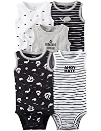 Carter's Baby Boys' 5 Pack Bodysuits (Baby) - Asst-Boys 2