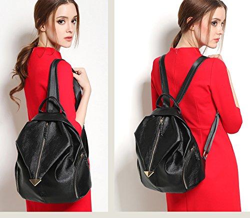 Ghlee - Bolso mochila  de Piel Lisa para mujer Modus 4