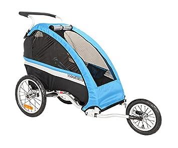 Weeride Classic Jogger Carrito Remolque con Cochecito Individual para Bicicleta, Unisex, Color Azul: Amazon.es: Deportes y aire libre