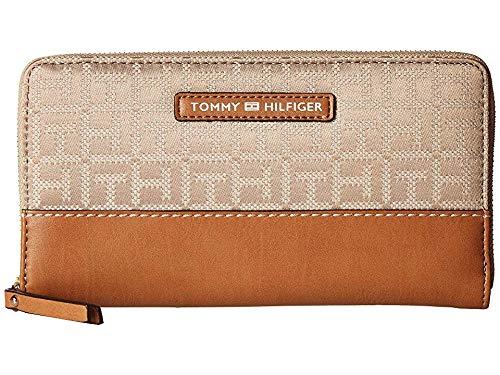 Tommy Hilfiger Women's Jackie Zip Wallet Khaki/Tonal One Size
