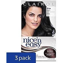 Clairol Nice 'n Easy Hair Color 122/2 Black 1 Kit (Pack of 3) (PACKAGING MAY VARY)