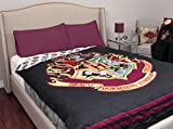 Harry Potter Brand New Kids Super Soft Quilted Black Background Multicolored Printed Standard Size Comfortable Cover Throw Blanket