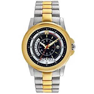 Sperry Top-Sider Men's Skipper Two-Tone Stainless Steel Bracelet Watch 42mm 103190