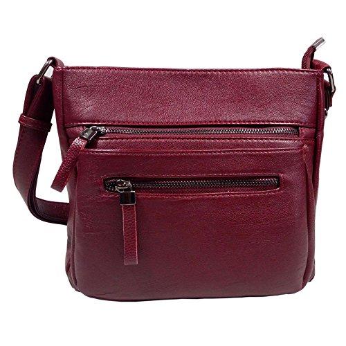 BINCCI Leather Crossbody Bag Women's Shoulder Handbag for Work, Leisure, Travel BL001A Flap Handbag Bag