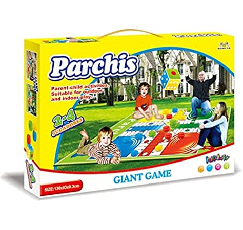 HKTEC Parchís Gigante, Juegos educativos, Los Mejores Precios: Amazon.es: Juguetes y juegos