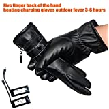 Lithium battery Powered Gloves Heated Gloves Hand Warmer Gloves 3-6 hour Waterproof black woman