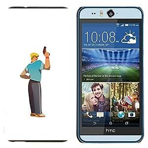 TECHCASE---Cubierta de la caja de protección para la piel dura ** HTC Desire Eye ( M910x ) ** --Arte arma Hombre Rubio carácter deportivo Tío Chico
