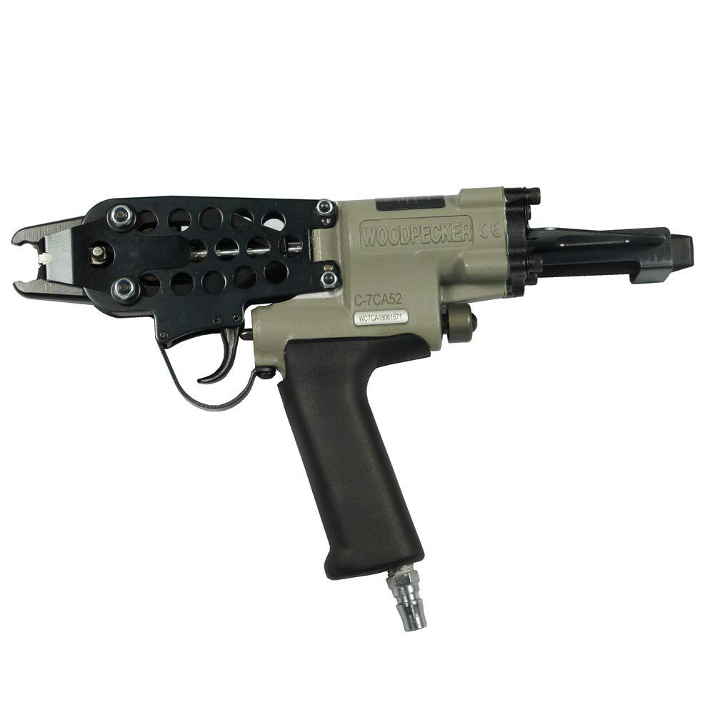 Woodpecker C-7CA 15 Gauge 3/4-Inch 4.8mm Closure Diameter C ring piler Pneumatic C Ring Tool Hog Ring Plier C ring gun for Mattress