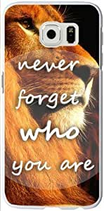 Caitin Never Forget Who You Are Cell Phone Cases Cover for Samsung s6