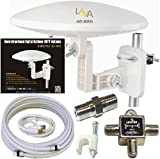 LAVA HD-8000 360 DEGREES HDTV DIGITAL AMPLIFIED OUTDOOR TV ANTENNA HD VHF CABLE