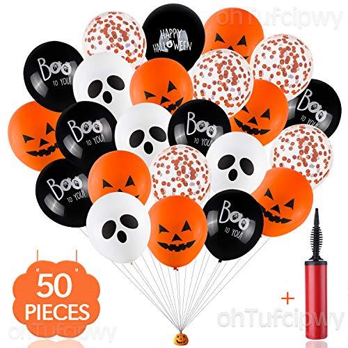 Halloween Balloon Decor - Halloween Balloons - 50 Pack 12