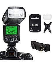 ESDDI Camera Flash for Canon, E-TTL 1/8000 HSS Wireless Flash Speedlite GN58 2.4G Wireless Radio Master Slave for Canon, Professional Flash Kit with Wireless Flash Trigger