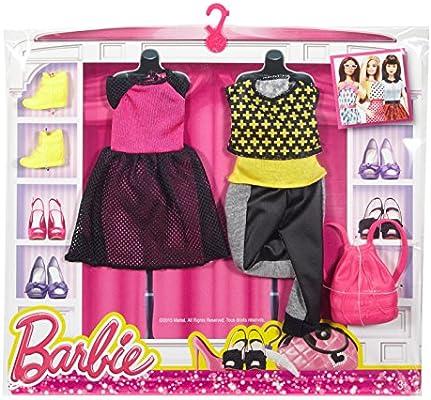 Amazon.es: Barbie Fashion 2 Pack Casual – Negro, Rosa y Amarillo ...