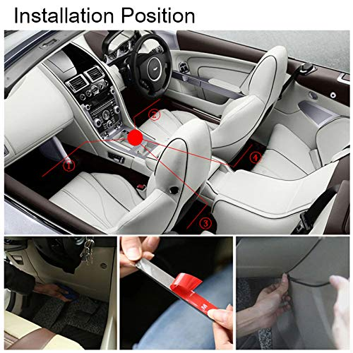Glow Neon Floor Decoration Underdash Lighting Lamp Kits with IR Wireless Remote Control /& Car Charger DC 12V 4347602883 AMBOTHER 4X 12-Color 36-LED Car LED Interior Atmosphere Decorative Strip Lights
