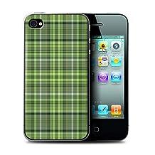 STUFF4 Phone Case / Cover for Apple iPhone 4/4S / Irish Plaid/Tartan Design / Green Fashion Collection