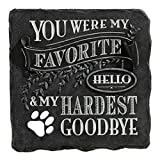 You Were My Favorite Hello and My Hardest Goodbye Plaque Black Stepping Stone