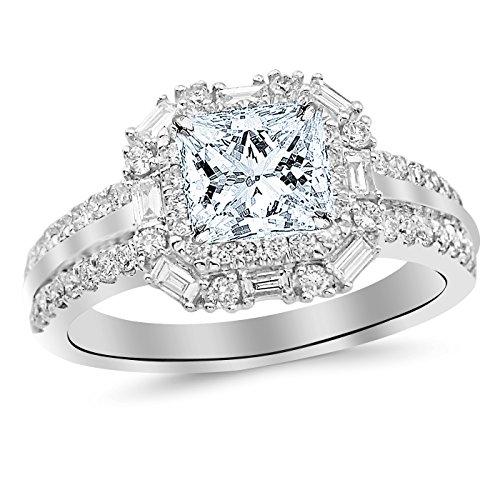 0.51 Ct Princess Diamond - 9