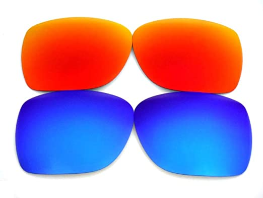 894c9ebfbb Amazon.com  Galaxy Replacement Lenses For Oakley Mainlink Sunglasses  Polarized Blue Red  Clothing