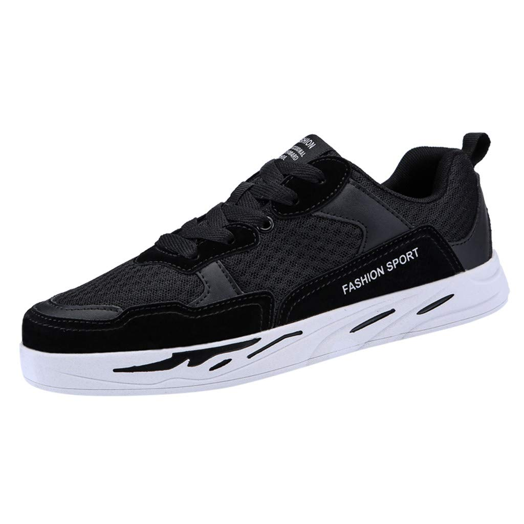 GINELO Couples Models Summer Fashion Air Cushion Sports Shoes Non-Slip Wear-Resistant Sneakers Breathable Shoes Black