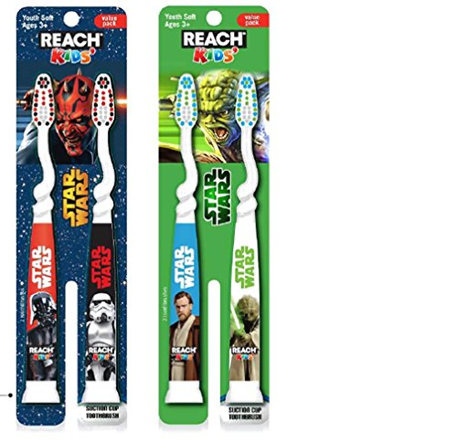 (Reach Kids Star Wars Ziggly Soft Toothbrush, 2 Count (Pack of 2))