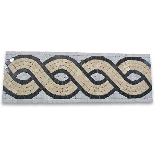 (Wave Nova 4x12 Marble Mosaic Border Tumbled)