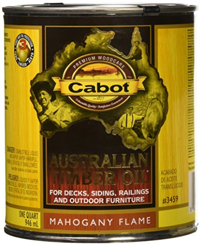 Oil Timber Australian Cabot (1 Quart Cabot Stains 3459 Australian Timber Oil, Mahogany Flame)