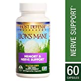 Host Defense - Lion's Mane Mushroom Capsules, Natural Support for Mental Clarity, Focus, Memory, Cerebral and Nervous System Health, Non-GMO, Vegan, Organic, 60 Count