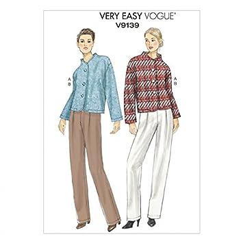 Vogue Damen Einfache Schnittmuster 9139 Jacke & Hose + Minerva ...