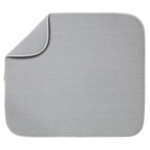 Kitchen Basics 585401 Dish Drying mat, Large, Gray