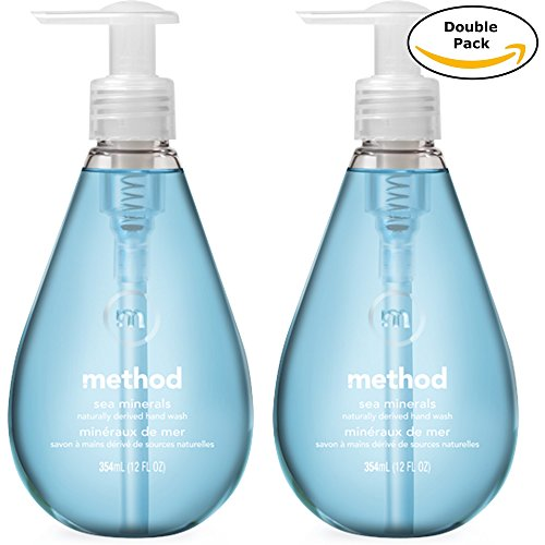 - Method Naturally Derived Biodegradable Gel Hand Soap, Sea Minerals Scent, Double Pack, 12 Fl. Oz Each, Total 24 Fl. Oz