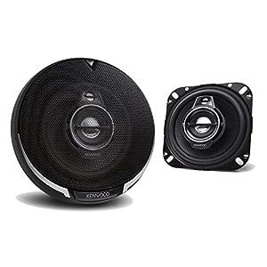 "2) New Kenwood KFC-1095PS 4"" 220 Watt 3-Way Car Audio Coaxial Speakers Stereo"