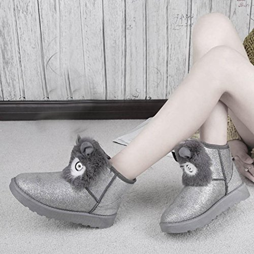 Warm Fashion Boots Women Ankle Winter Lady Shoes Silver Boots Snow Clode® Casual Womens w4Yp6q
