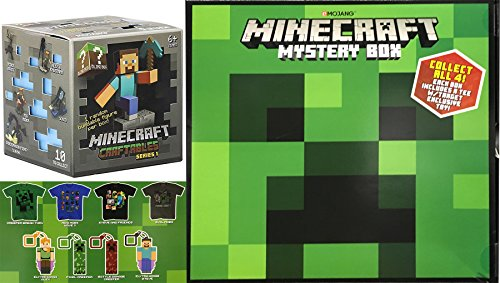 Minecraft Buildable Figure Blind Box & Exclusive Mystery Box ? MEDIUM Shirt & Character Clip Hanger Craftables