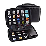 Happy Hours - Portable Shockproof Large Carry Case Pouch / Travel Organizer Accessories Hard Cover Box Storage Protection Bag for Cables, USB Sticks, Hard Drive, Memory Cards