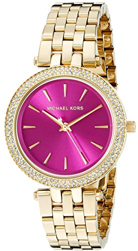 mk watches pink dial - 2