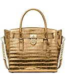MICHAEL Michael Kors Studio Hamilton Large East West Satchel (Gold)