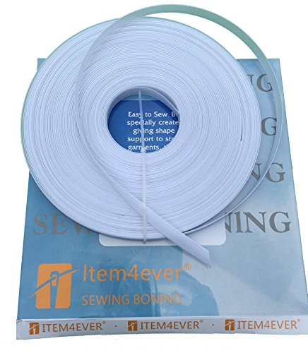 1/2'' Rigilene White - 50 Yard Roll - Polyester sew through boning by item4ever