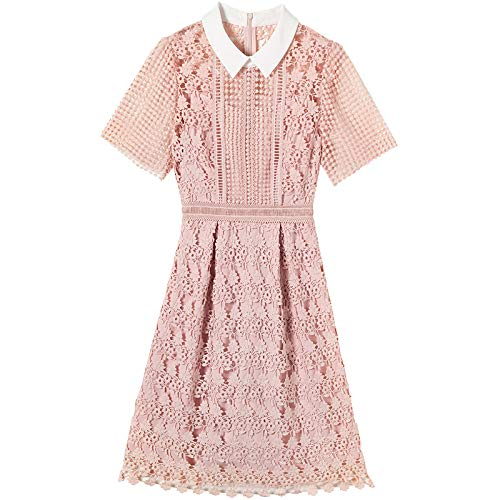 Woman Dress Dress Summer Style Mesh Retro Seaside Holiday Lace Dress