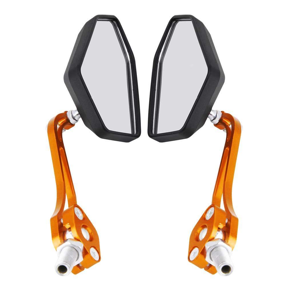 KIMISS 1 par de Espejos retrovisores de la Motocicleta Universal(Amarillo): Amazon.es: Coche y moto