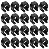 Tools & Equipments - Zanlure 20pcs Plastic Fishing Lever Pole Storage Tip Clips Positioning Clamp Black - Snip Perch Time Gat Lop Retinal Rod Dress Cell Nip Magazine Cut Short Back