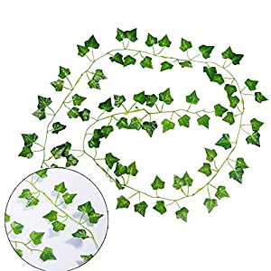 AGEOMET 24 PCS Fake Ivys Artificial Ivys Greenery Garlands Hanging for Wedding Party Garden Wall Decoration(79 inch Each) 4