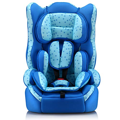 ZZHK Child Car Seat, Baby Baby Car Seat, Three-Speed Adjustable for 9 Months-12 Years Old,blue2 (Car Seats 9 Months To 12 Years)