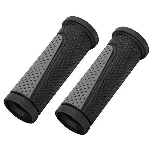 Rubber Handle Grip (TOPCABIN 2x Short Mini Handlebar Bicycle Grips Fit Many Standard Bikes 90MM Length (Black + Grey))