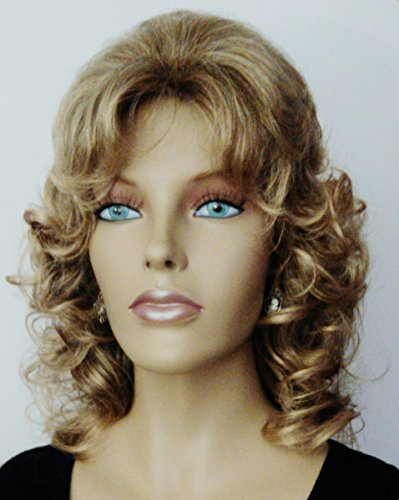 MARLA Classic Curly Shag Wig by Mona Lisa - 8T124 Brown-Blonde