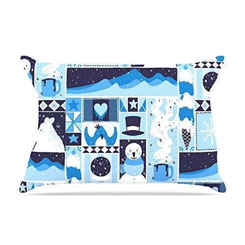 Kess InHouse Tobe Fonseca Winter Blue Seasonal Fleece Pillow Case, 30 x 20