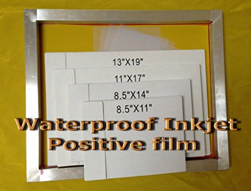 Waterproof Inkjet Transparency Film for Silk Screen 11'' x 17'' - 2 Pack (200 Sheets) by GoldUpUSAInc