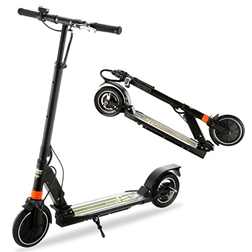 Ferty Foldable Electric Scooter High Speed 2-Wheel E-Scooter with Dual Suspension Lithium Battery,for Adult/Teen,Max Load 110kg,Black [US STOCK] (Black) (Scooters Electric Cheapest)